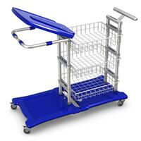 Laundry & Waste Trolley XCSWG/1FK/100/ES